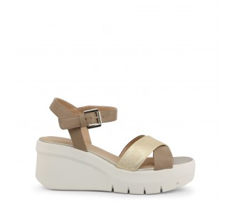 Scarpe zeppe donna geox torrence colore marrone