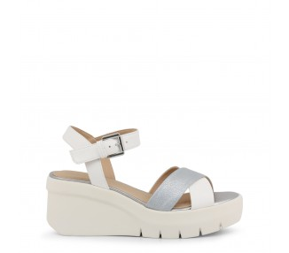 Scarpe zeppe donna geox torrence colore bianco