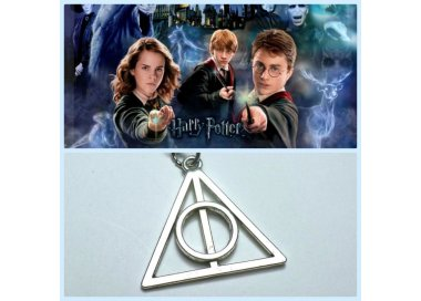 Collana catenina con ciondolo Harry potter e i doni della morte Deathly Hallows