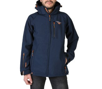 giacca uomo geographical norway taboo man polyester colore blu chiusura zip