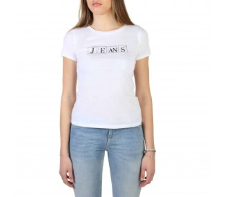 t-shirt donna armani jeans 3y5t20 5j15z bianco in cotone 100%