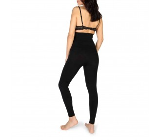 leggings modellante donna bodyboo bb1450 nero
