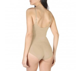 body modellante donna bodyboo bb1040 marrone