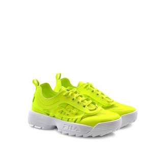scarpe sneakers donna fila disruptor run 1010866 giallo