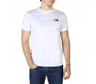 t-shirt uomo the north face nf0a2tx5 bianco in cotone 100%