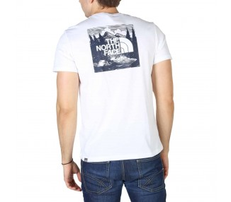 t-shirt uomo the north face nf0a2zxe bianco in cotone 100%