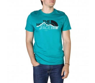 t-shirt uomo the north face nf00a3g2 verde in cotone 100%
