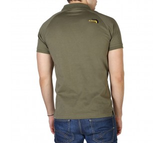polo uomo the north face nf0a3bq2 verde in cotone 100%