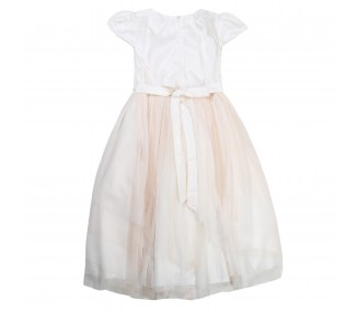 abito bambina little miss aoki a921b corallo