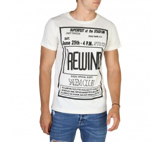 t-shirt uomo diesel t-diego-dc-qe 00s04a bianco in cotone 100%