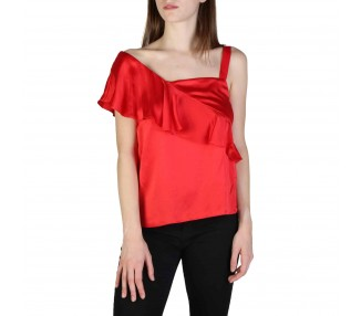 top donna armani exchange 3zyh35ynbtz rosso
