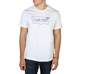 t-shirt uomo levis 22489 housemark-graphic bianco in cotone 100%