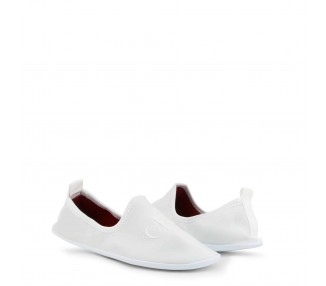 scarpe slip-on donna calvin klein tracy re9729 bianco punta tonda