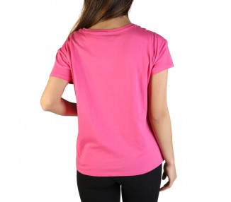 t-shirt donna armani exchange 3zytcs yjw3z rosa in cotone 100%