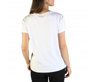 t-shirt donna armani exchange 3zytcs yjw3z bianco in cotone 100%