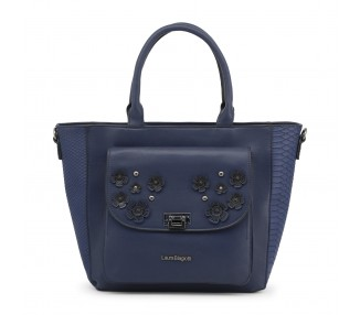 Borsa shopping bag donna laura biagiotti lb18s114-5 pelle sintetica colore blu