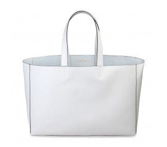 Borsa shopping bag donna made in italia romina colore bianco