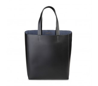 Borsa shopping bag donna made in italia fosca colore nero