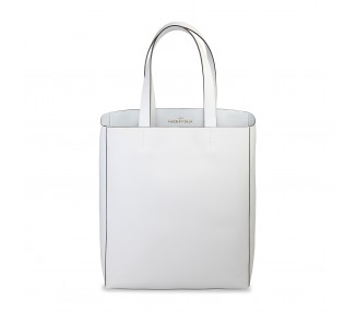 Borsa shopping bag donna made in italia fosca colore bianco