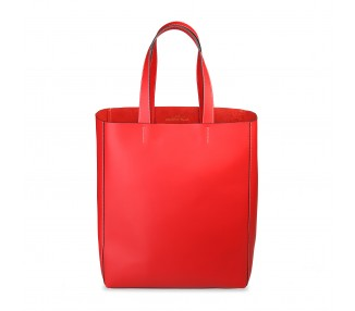Borsa shopping bag donna made in italia fosca colore rosso