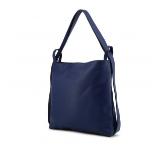 borsa a spalla donna made in italia maddalena pelle colore blu