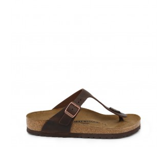 infradito unisex birkenstock gizeh oiled-leather colore marrone